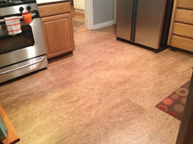 Cork floor in Los Gatos kitchen - Contemporary - San ...