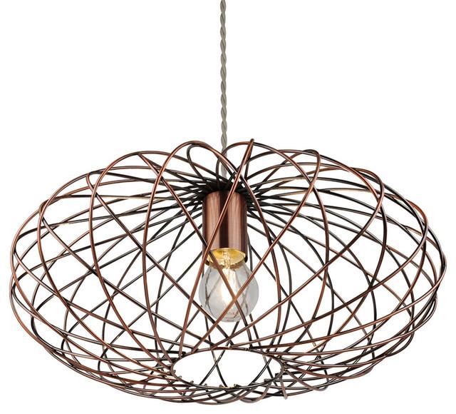 Firefly Pendant Ceiling Light, Antique Copper