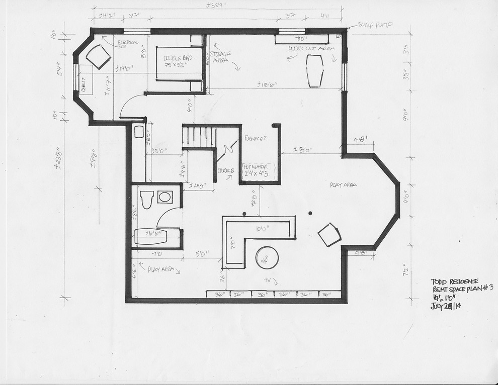 residential space plans- kingston basement space plan