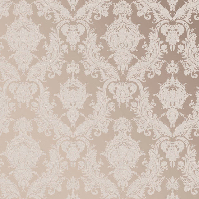 Damask Modern Classic Champagne Pearl Removable Wallpaper - Modern - Wallpaper - by Kathy Kuo Home