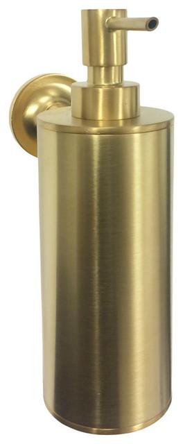 Kohler Brushed Gold Purist Wallmount Soap Dispenser Contemporary