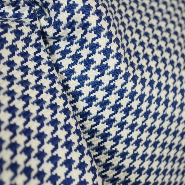D2922 Houndstooth Navy Blue Fabric - Traditional - Drapery Fabric ...