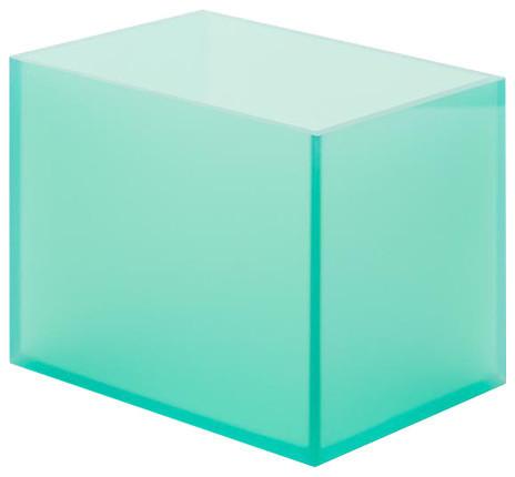 Loopholes Acrylate Storage Box, Blue-Green, Small.