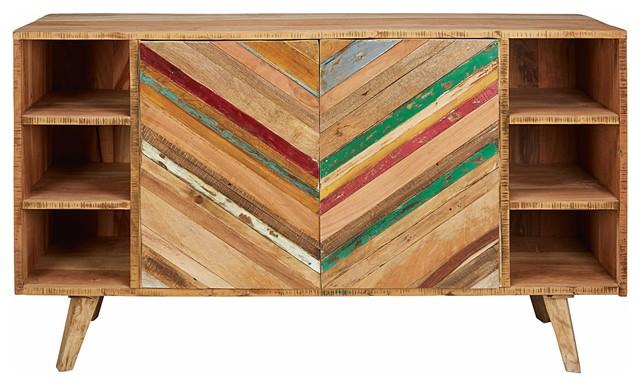 Credenza La Maison Du Monde : Credenza 2 porte in legno riciclato coachella eclettico buffet e