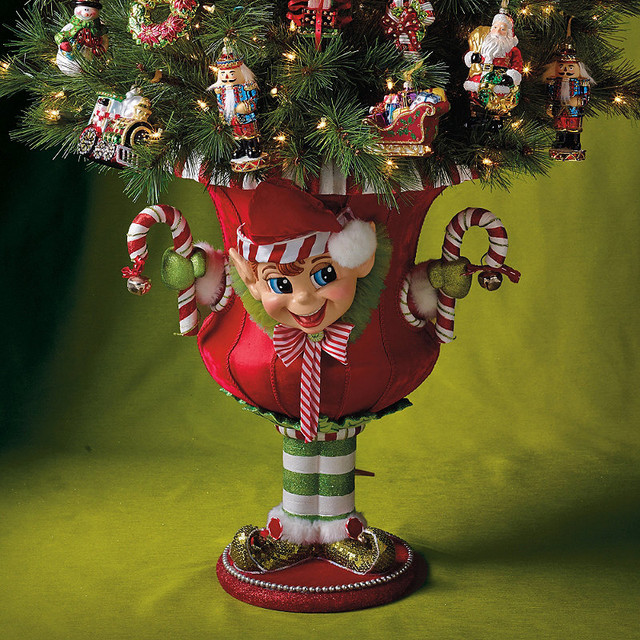 Holiday Elf Urn Large Traditional Christmas