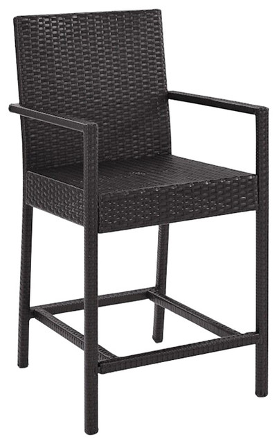 Palm Harbor Outdoor Wicker Counter Bistro Stools, Set Of 2.