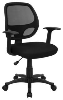 shop houzz mid back black mesh computer chair lf w 118a