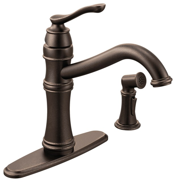 Chrome 1 Handle Kitchen Faucet Traditional Kitchen