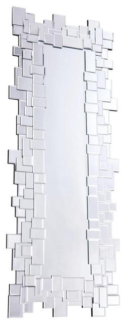Elegant Lighting Modern Silver 60.6 Mirror.