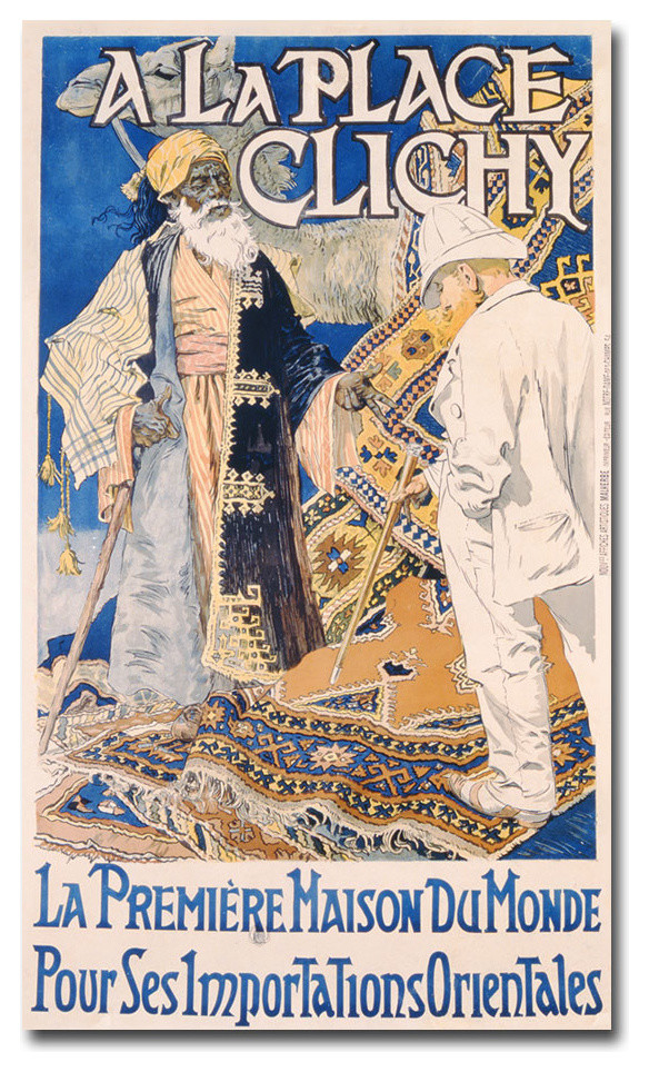 A La Place Clinchy 1890 Canvas Art By Eugene Grasset Traditional Prints And Posters By Trademark Global
