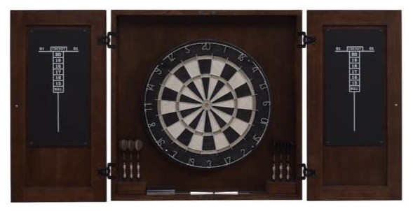 American Heritage Traditional Dart Board Cabinet Set - Darts And Dartboards | Houzz