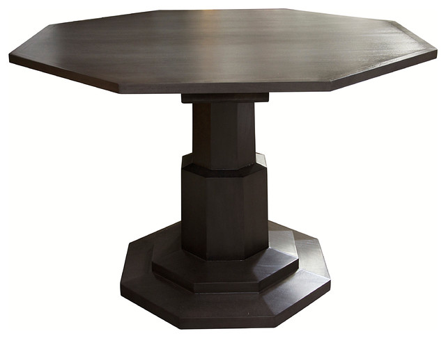 Octagon dining table traditional dining tables by noir for Octagon coffee table plans