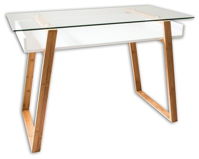Bonvivo Designer Desk Massimo, Modern Secretary In A Contemporary Design    Scandinavian   Desks And Hutches   By Kedyrolo Llc
