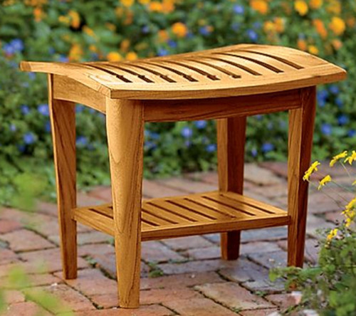 Can Teak Go Directly Into A Shower Stall?