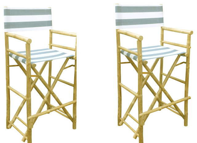 Tall Directors Chairs Set of 2 Tropical Outdoor Folding Chairs by Buye