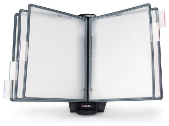 Weighted Desktop Reference Organizer 5 Panel