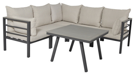 Åminne Corner Garden Lounge Set, Aluminium and Polywood