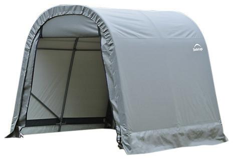 Shelter Logic Outdoor Sheltercoat Garage 8&x27;x8&x27;x8&x27;, Round Standard, Gray