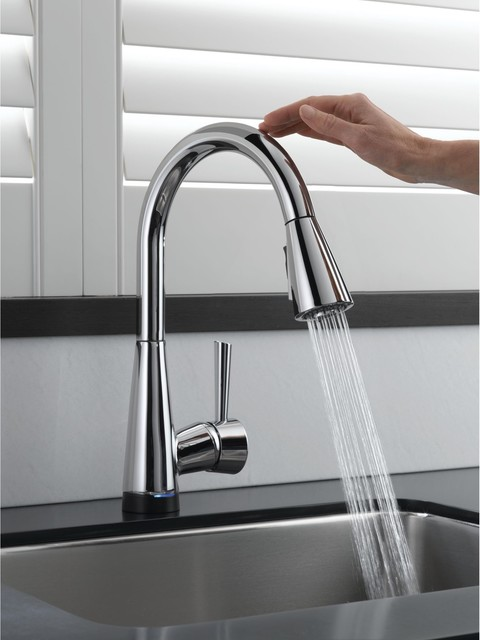 contemporary kitchen faucets Brizo Venuto SmartTouch Faucet