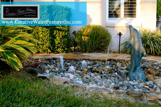 Dolphin Fountain Orlando By Creative Water Features Inc
