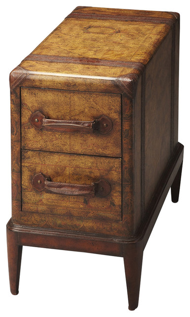 Butler Columbus Old World Map Chairside Table