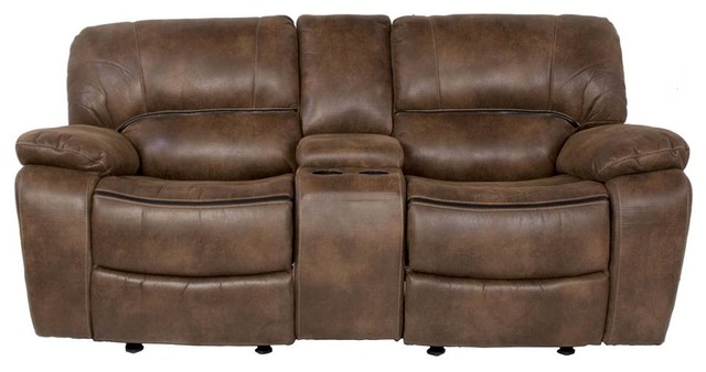Dual Rocking Reclining Loveseat With Console Contemporary Loveseats By Shopladder