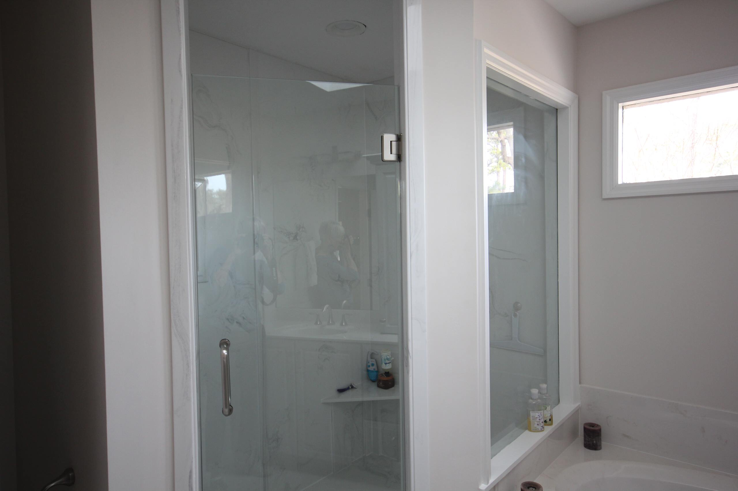 Updated Shower with Cultured Marble