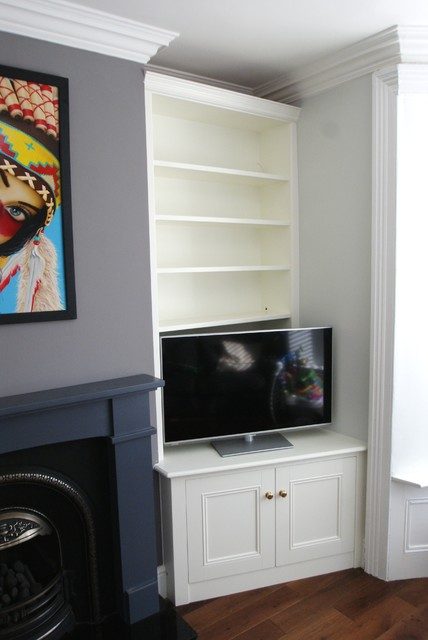 Living Room Alcove Decorating Ideas: Sheffield Victorian Fitted Alcove Units In Off-white