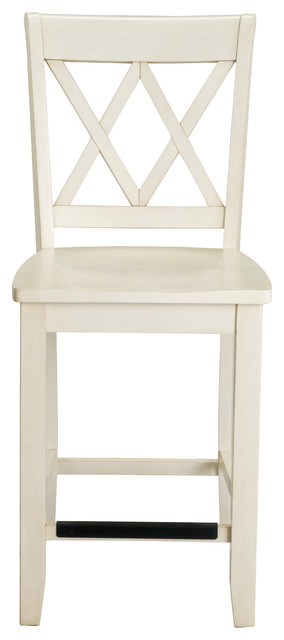 Vintage Vanilla Bean Counter Height Stool Off White Set
