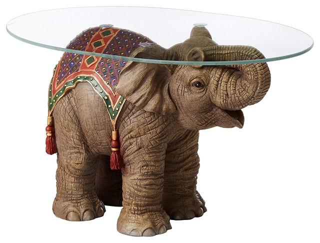 Glass Top Elephant Coffee Table 7