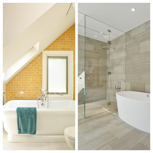 Charmant Colored VS Neutral Bathroom Tile