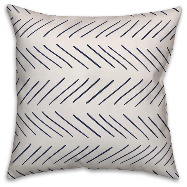 "18/""x18/"" Black and White Chevron Decorative Throw Pillow Cover"