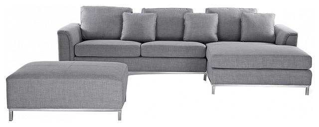 Oslo Modern Modular Sofa in Fabric With Ottoman - Modern - Corner ...