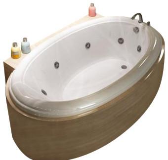 Atlantis Tubs 3660pwr Petite 36x60x23 Inch Oval Whirlpool Jetted Bathtub.