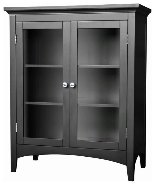 Enjoyable Elegant Home Fashions Madison 2 Door Floor Cabinet In Dark Espresso Interior Design Ideas Clesiryabchikinfo