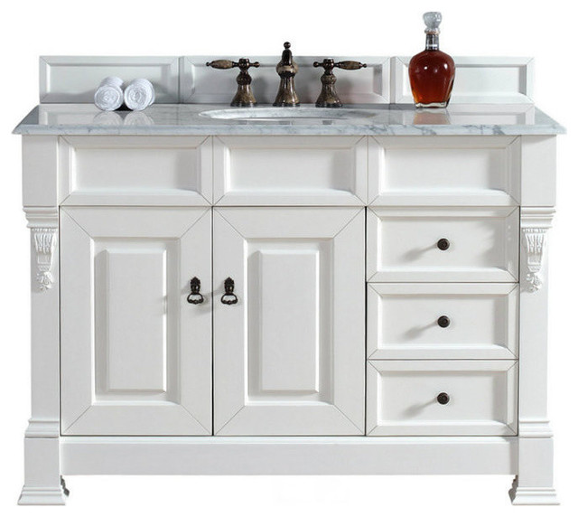 48 Vanity Cabinet Drawers Cottage White No Counter Top
