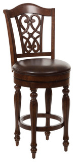Hillsdale Hamilton Park Swivel Stool with Scroll Back, Completely KD - Contemporary - Bar Stools ...