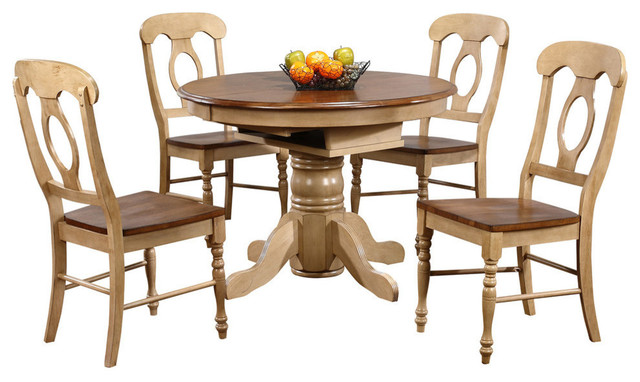 Incroyable 5 Piece Brook Round Or Oval Butterfly Leaf Dining Set