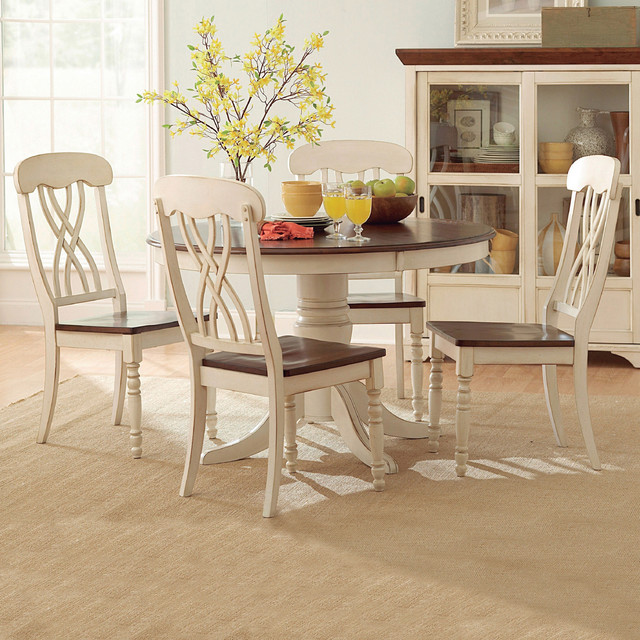 Tremendous Tribecca Home Mackenzie 5 Piece Country Antique White Dining Set Alphanode Cool Chair Designs And Ideas Alphanodeonline