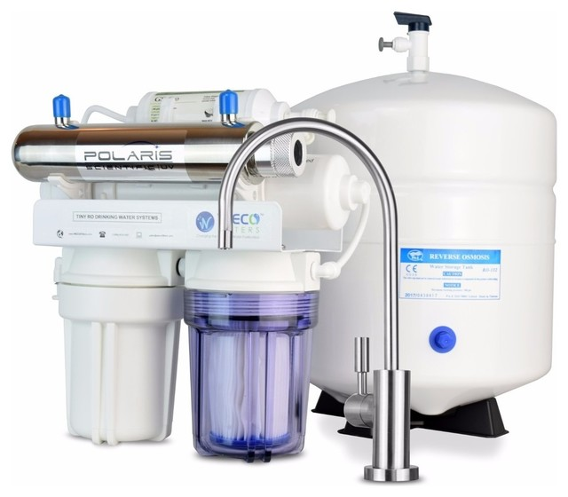 Compact Undersink Reverse Osmosis Water Filtration System.