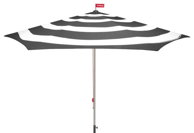 Stripesol Modern Striped Patio Umbrella, Vibrant Colors, Anthracite  Contemporary Outdoor Umbrellas