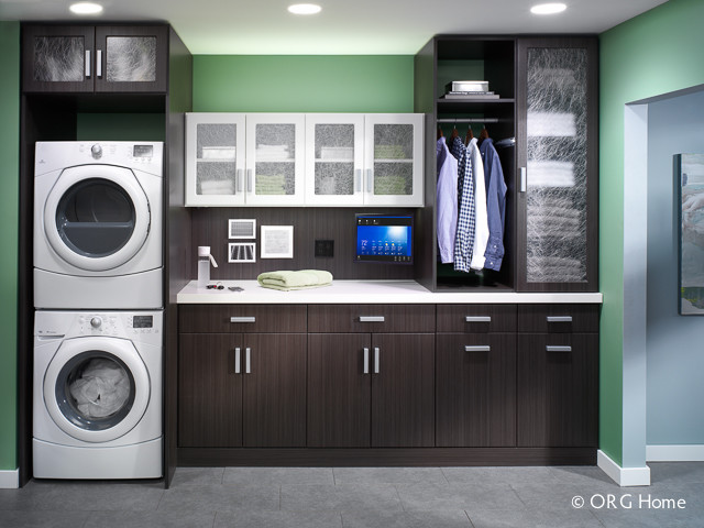 Modern Laundry Rooms laundry - modern - laundry room - boston -closet classics of
