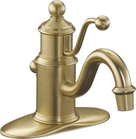 Kohler kohler k 138 bv antique bath faucet in vibrant for Vibrant brushed bronze bathroom lighting