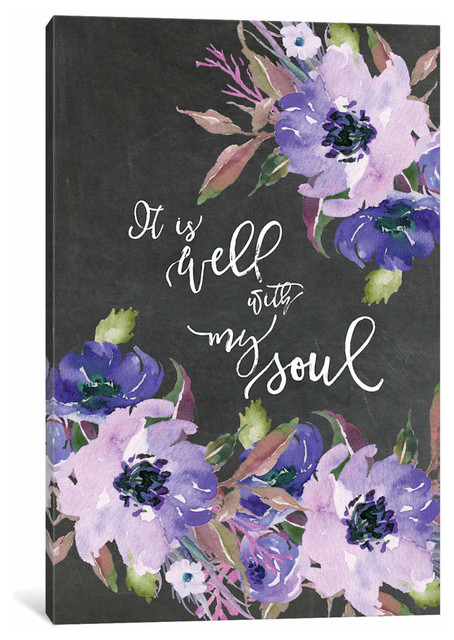 """it Is Well With My Soul"" Canvas Print, 40""x26""."