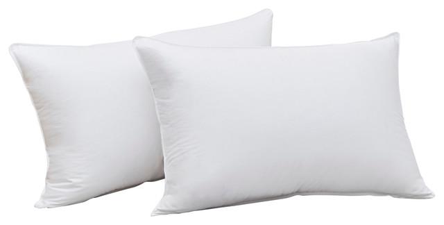 700 Fill Power White Goose Down Cotton Sateen Pillow, King, Firm Density