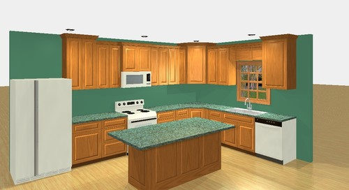sample of kitchen cabinets