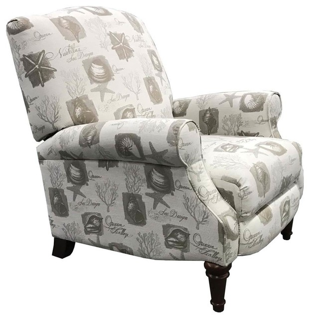 Cool Manual Shell Script Recliner Chair In Beige Unemploymentrelief Wooden Chair Designs For Living Room Unemploymentrelieforg