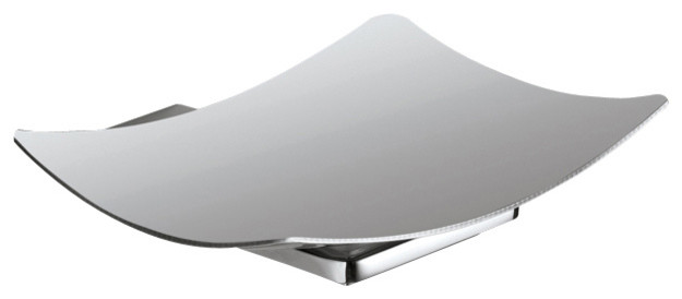 Wall Mounted Square Chrome Soap Dish