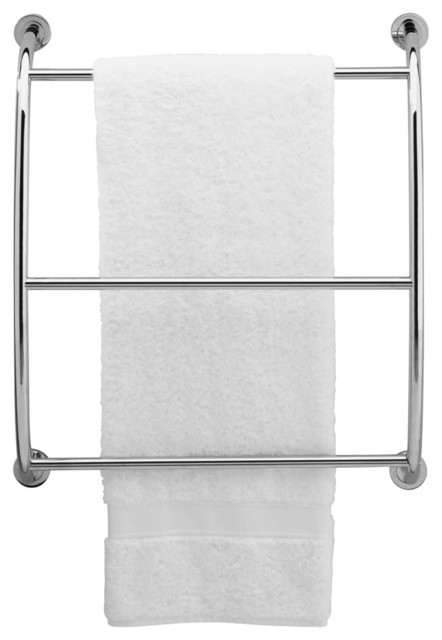 Essentials Wall Mounted Towel Rack Satin Nickel
