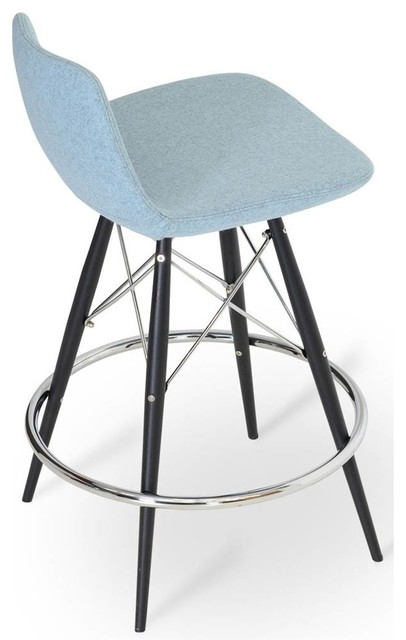 24 Upholstered Swivel Counter Stool Midcentury Bar Stools And